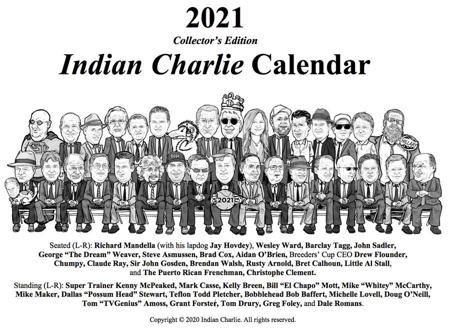 Indian Charlie 2020 Calendar